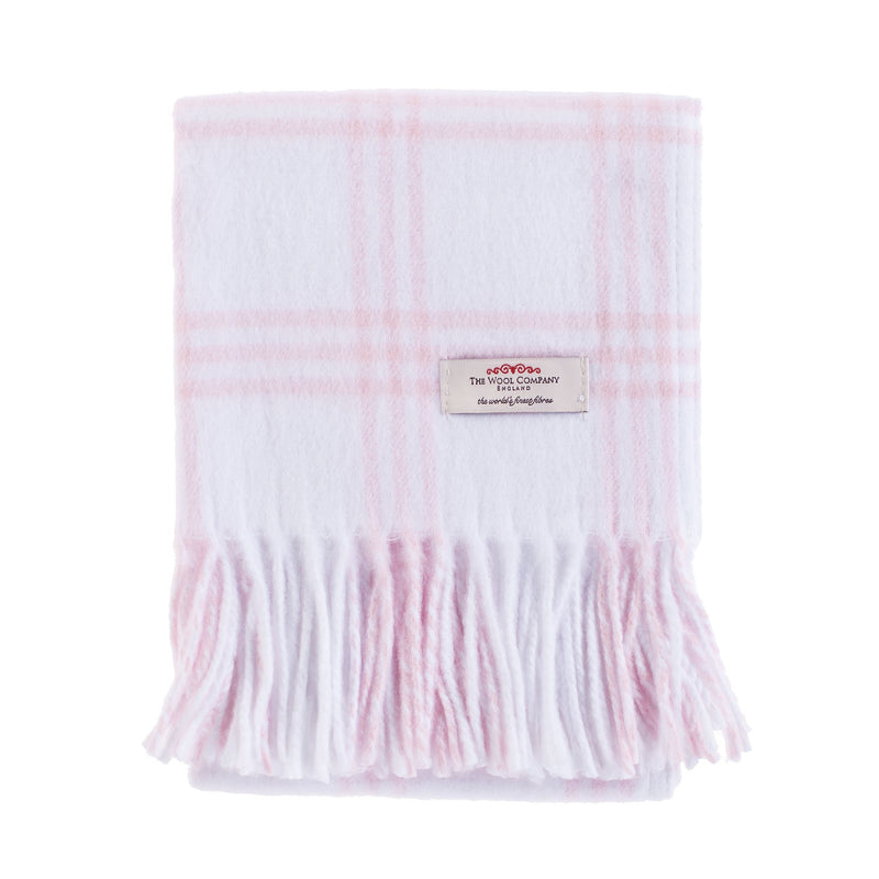 Buy Softest Cotton Check Baby Blanket Soft Pink From The Wool Company Online