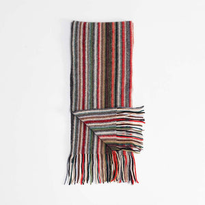 Stripe Cashmere Scarf Green -  -   from The Wool Company