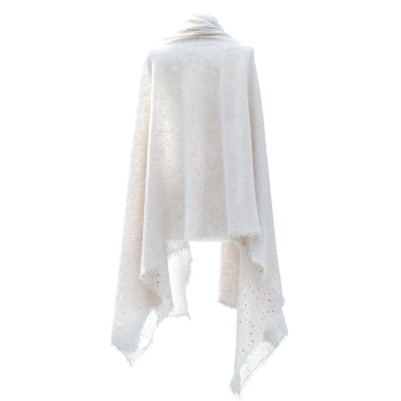 Swarovski Embellished Cashmere Pashmina Shawls Ivory -  - CLOTHING  from The Wool Company