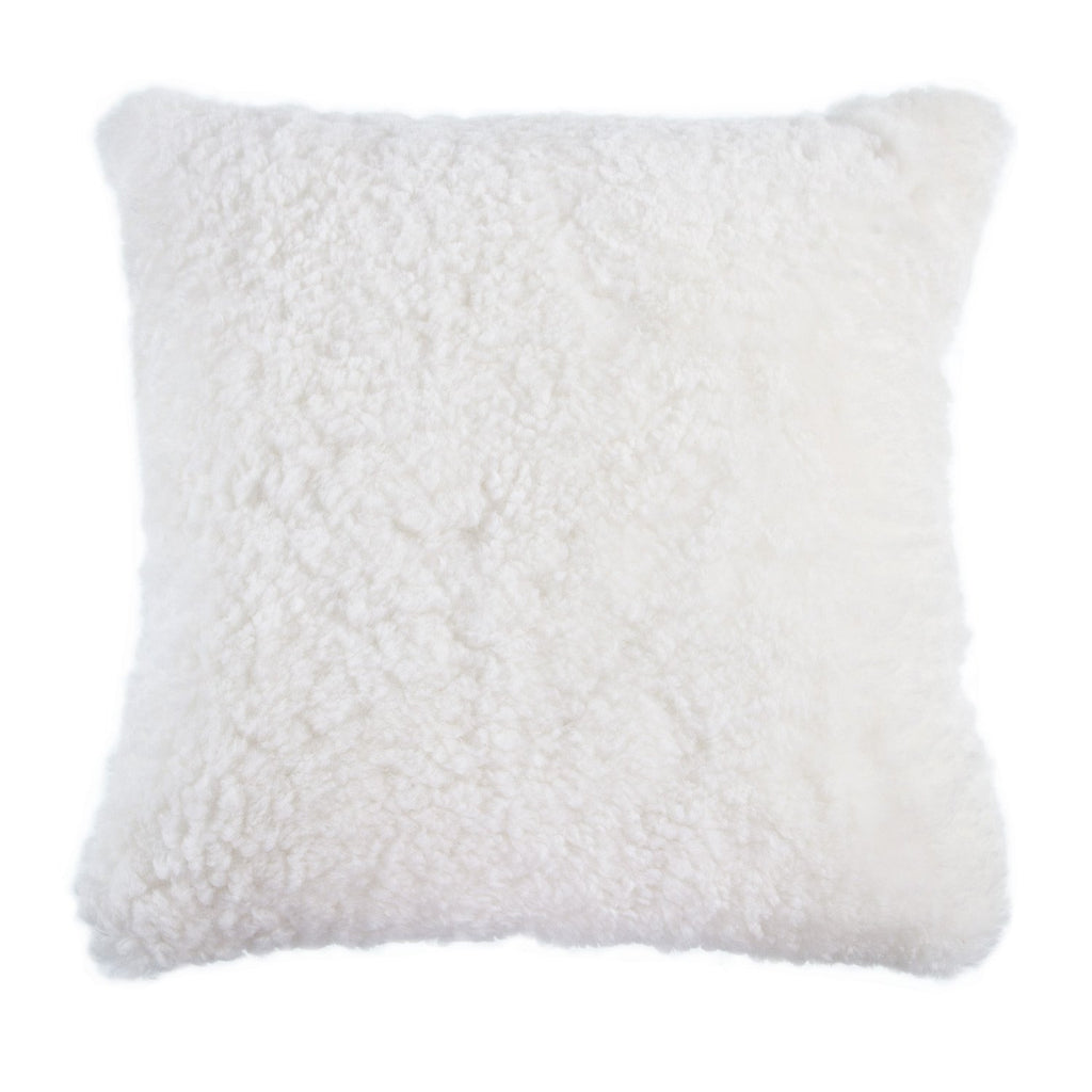 Swedish Curly Sheepskin Cushions - Ivory - SHEEPSKIN  from The Wool Company