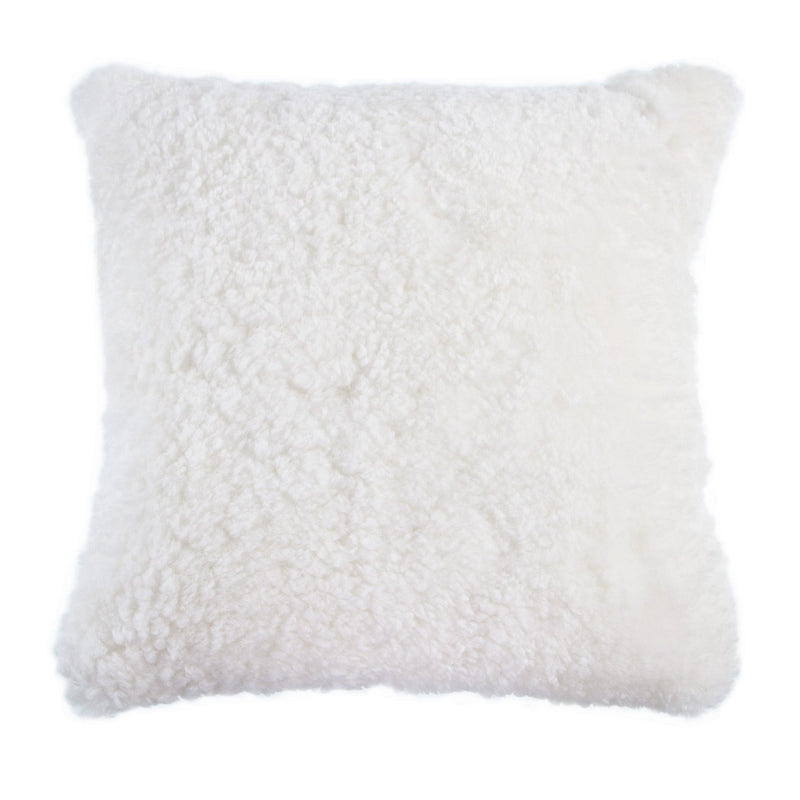 Swedish Curly Sheepskin Cushions Ivory SHEEPSKIN The Wool Company