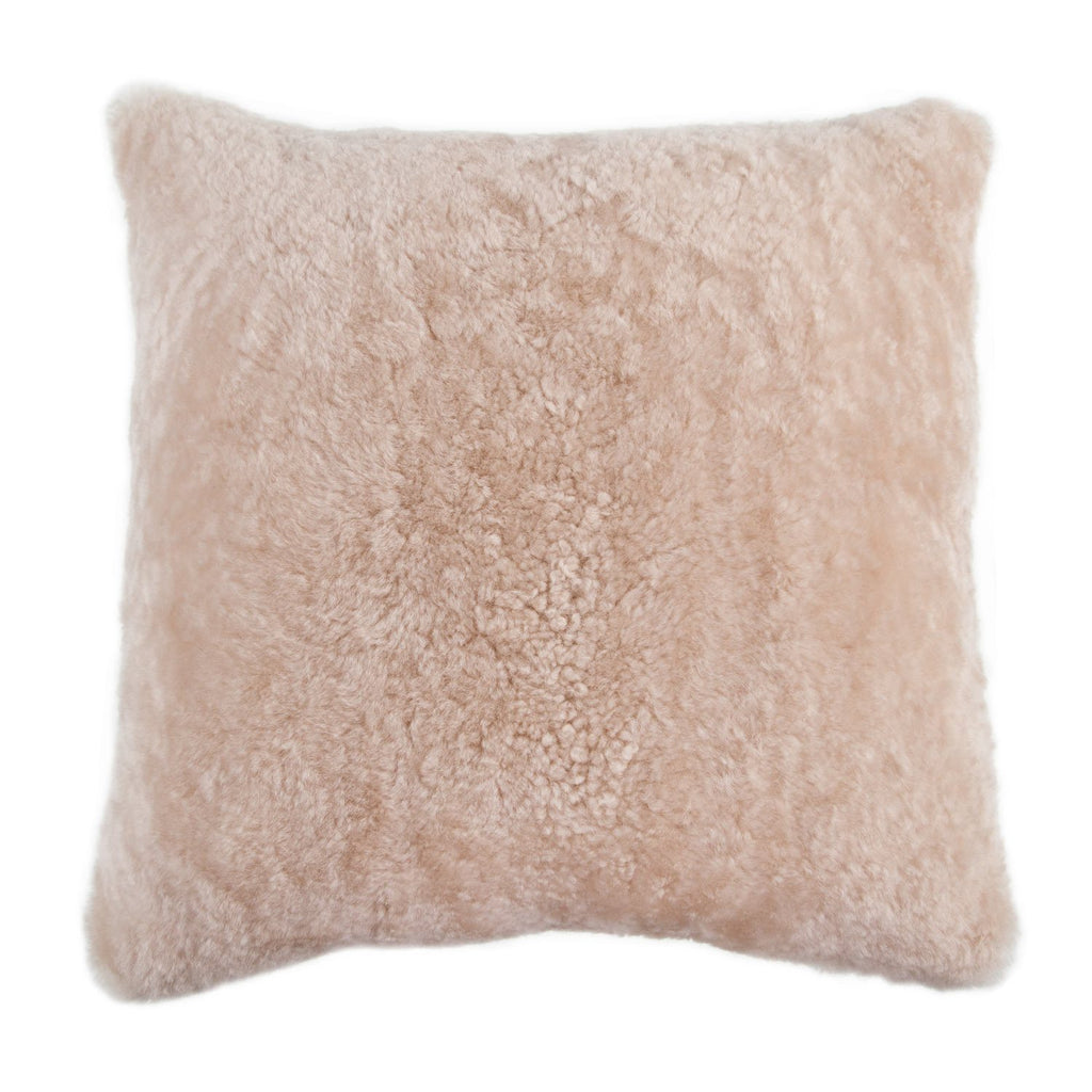 Swedish Curly Sheepskin Cushions - Oyster - SHEEPSKIN  from The Wool Company