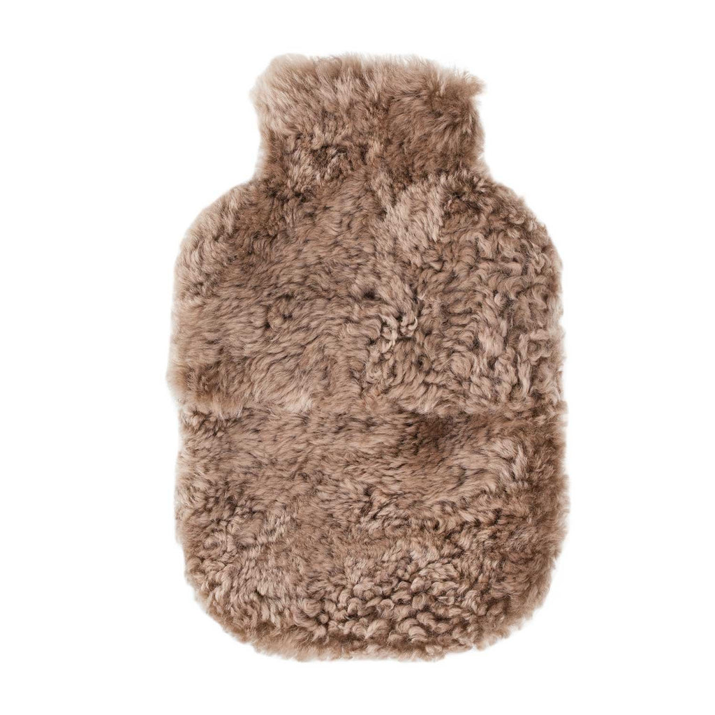 Buy Swedish Curly Sheepskin Hot Water Bottle in Taupe From The Wool Company Online