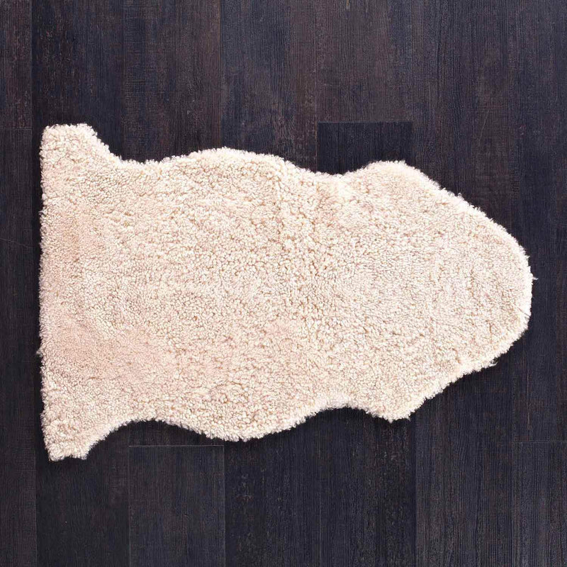 Swedish Curly Sheepskin Oyster Throw -  - SHEEPSKIN  from The Wool Company