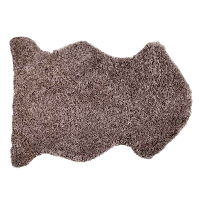 Swedish Curly Sheepskin Taupe Throw -  - SHEEPSKIN  from The Wool Company