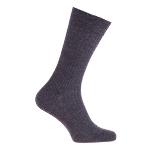 Tailored 100% Merino Socks - Dark Grey / 6.5 -7.5 - CLOTHING  from The Wool Company