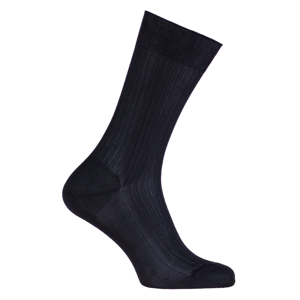 Tailored 100% Silk Socks Black 5.5-6 CLOTHING The Wool Company