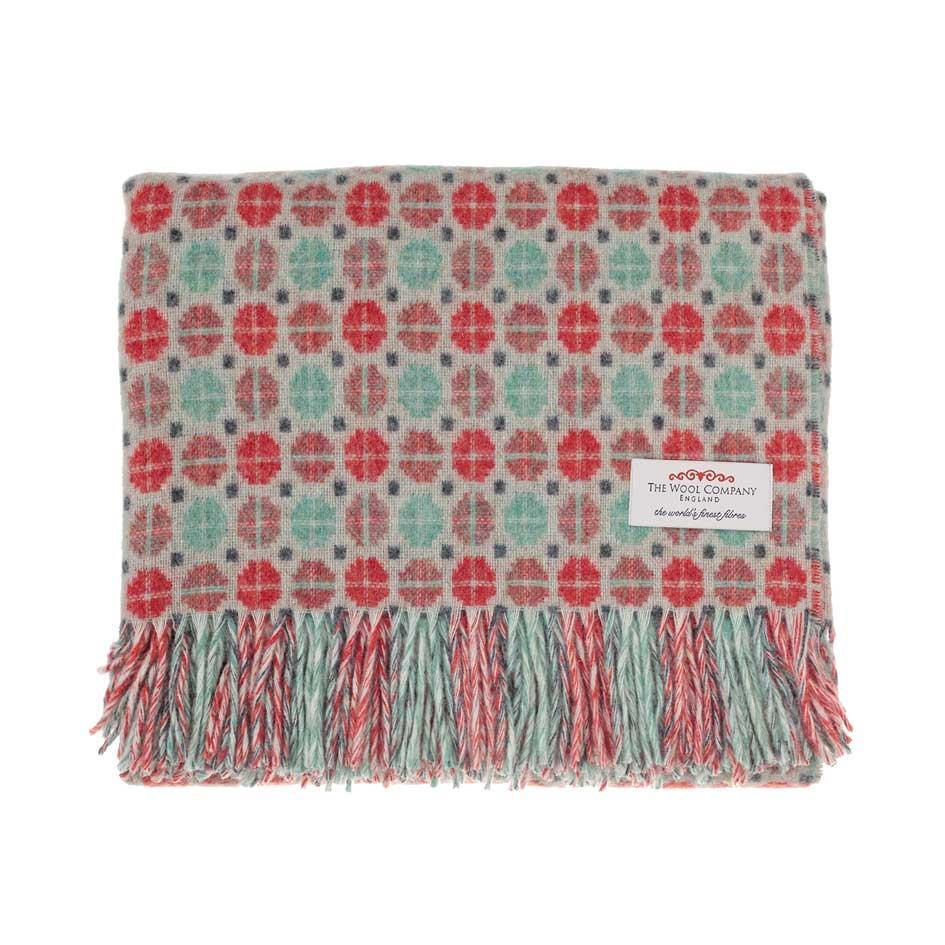 Tapestry Merino Throw Coral -  - LIVING  from The Wool Company