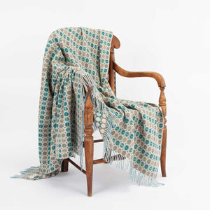 Buy Tapestry Merino Throw Eucalyptus From The Wool Company Online