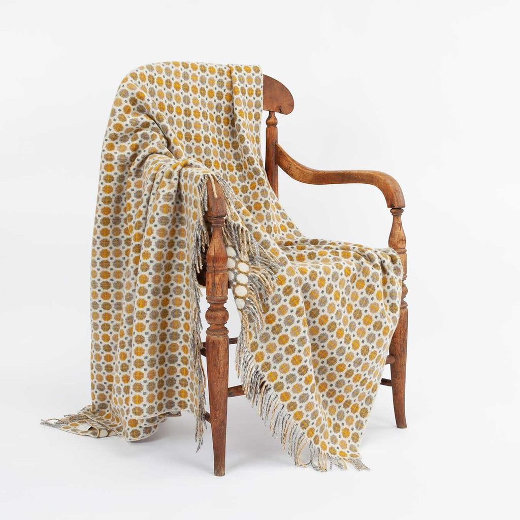 Tapestry Merino Throw Gold -  - LIVING  from The Wool Company