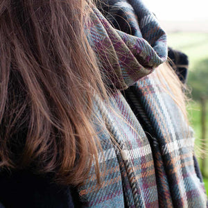 Tartan Cashmere and Wool Blend Stole Anderson Antique -  - CLOTHING  from The Wool Company