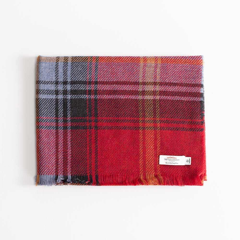 Tartan Cashmere and Wool Blend Stole Ruby Brock -  - CLOTHING  from The Wool Company