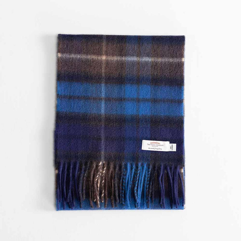 Tartan Cashmere Scarf Buchanan Blue -  - CLOTHING  from The Wool Company