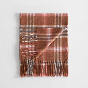 Tartan Cashmere Scarf Elie Rose -  -   from The Wool Company