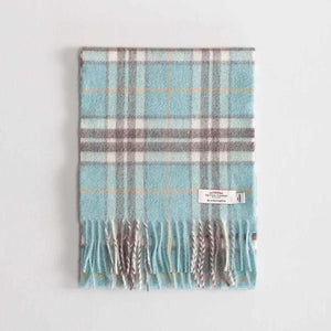 Tartan Cashmere Scarf Thompson Opal -  - CLOTHING  from The Wool Company