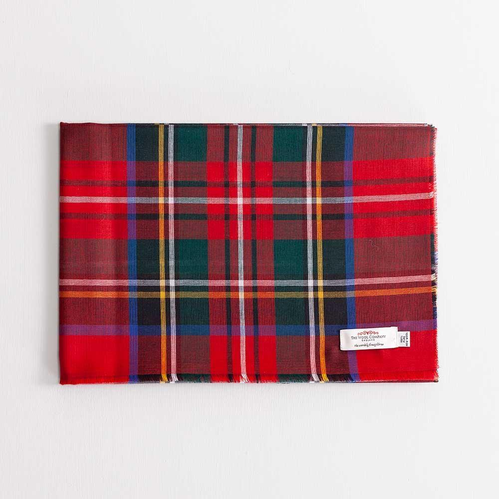 Tartan Extra Fine Merino Stole Stewart Royal Modern -  - CLOTHING  from The Wool Company