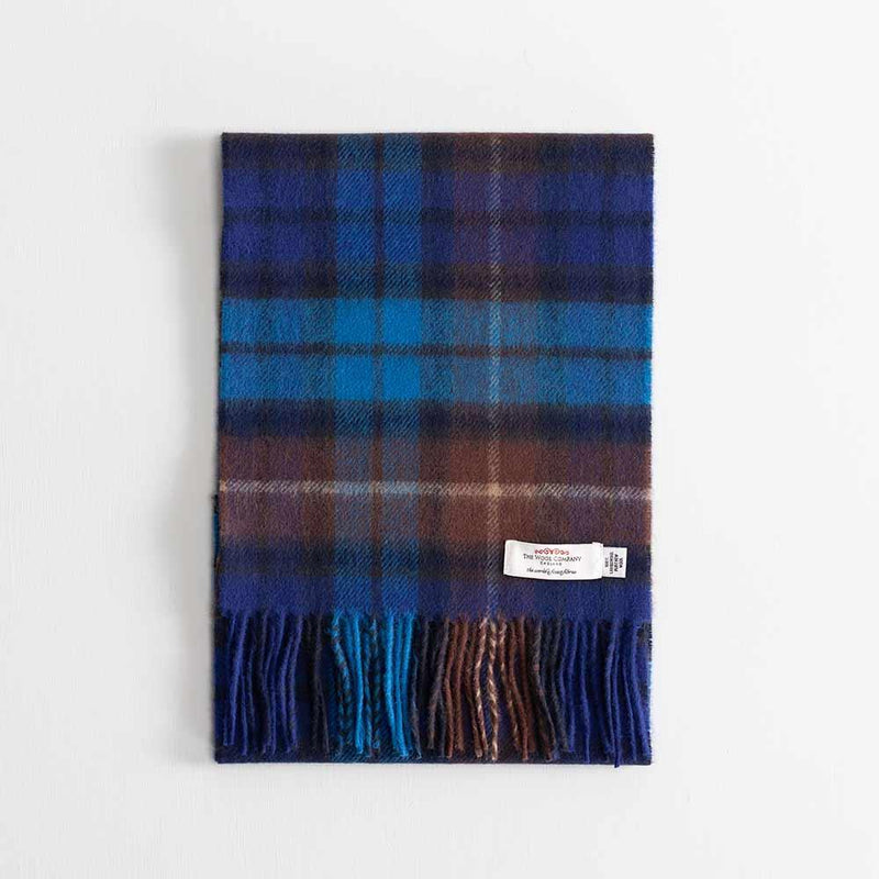 Tartan Lambswool Scarf Buchanan Blue -  - CLOTHING  from The Wool Company