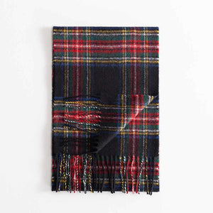 Buy Tartan Lambswool Scarf Stewart Black Modern From The Wool Company Online
