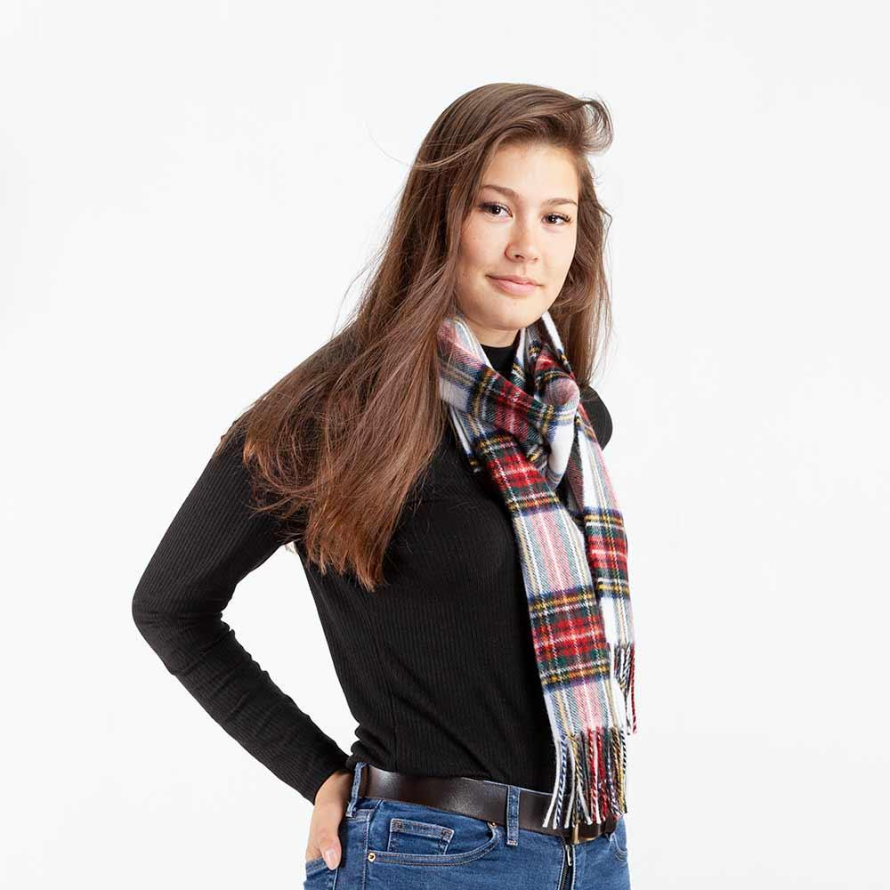 Tartan Lambswool Scarf Stewart Dress Modern -  - CLOTHING  from The Wool Company