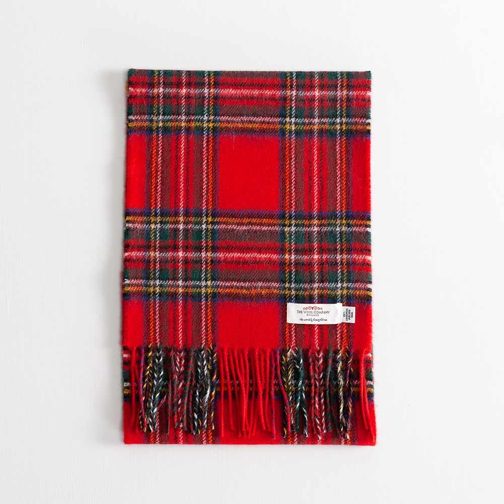 Buy Tartan Lambswool Scarf Stewart Royal Modern From The Wool Company Online