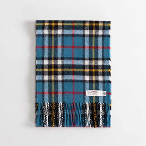 Tartan Lambswool Scarf Thompson Blue -  - CLOTHING  from The Wool Company