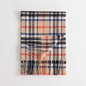 Tartan Lambswool Scarf Thomson Camel Modern -  - CLOTHING  from The Wool Company
