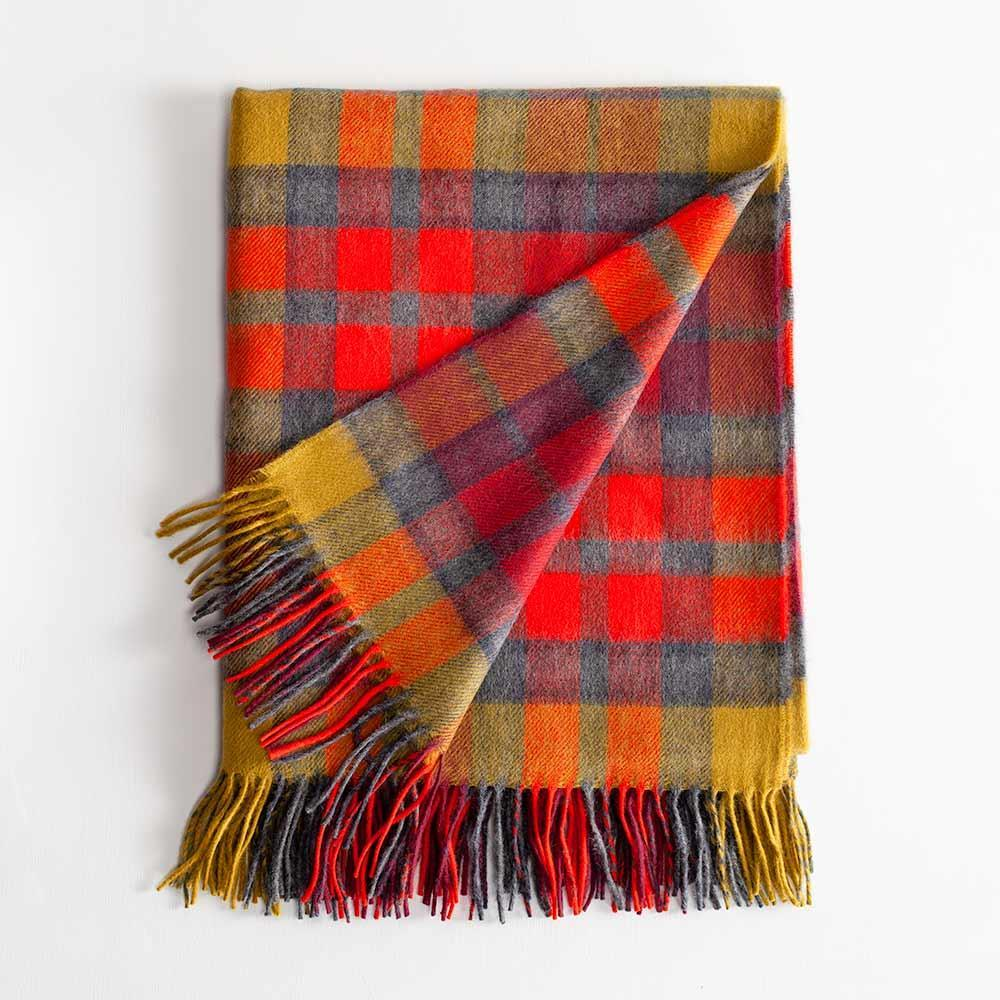 Tartan Lambswool Throw Buchanan Berry -  - LIVING  from The Wool Company