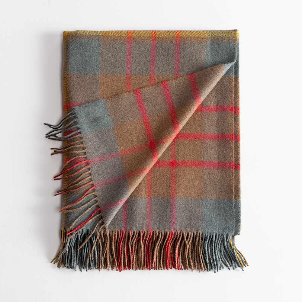 Tartan Lambswool Throw Cameron Hunting Weathered -  - LIVING  from The Wool Company