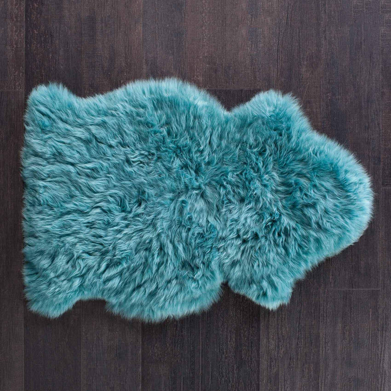 Buy Teal Colour Sheepskin From The Wool Company Online
