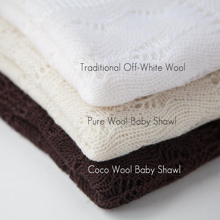 Buy Traditional Ivory Wool Baby Shawl From The Wool Company Online