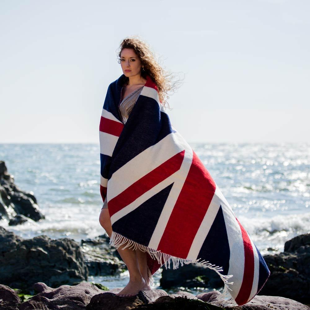 Union Jack Throw LIVING The Wool Company