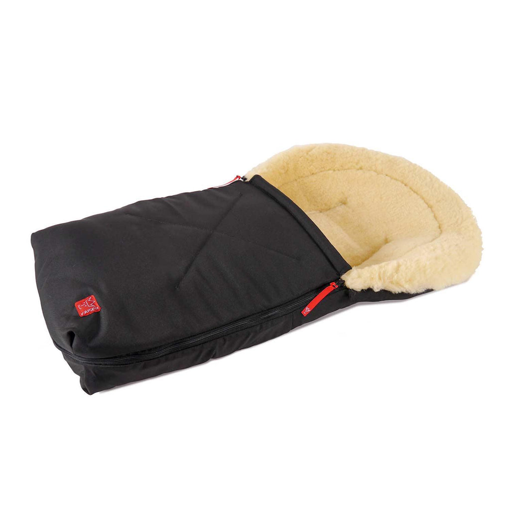 Universal Sheepskin Footmuff for Baby Black -  - OFFERS and SALE  from The Wool Company