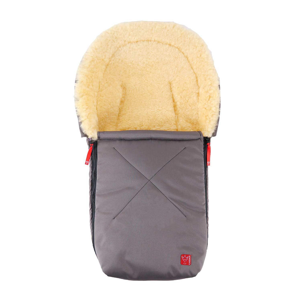 Universal Sheepskin Footmuff for Baby Dark Grey -  - BABY  from The Wool Company