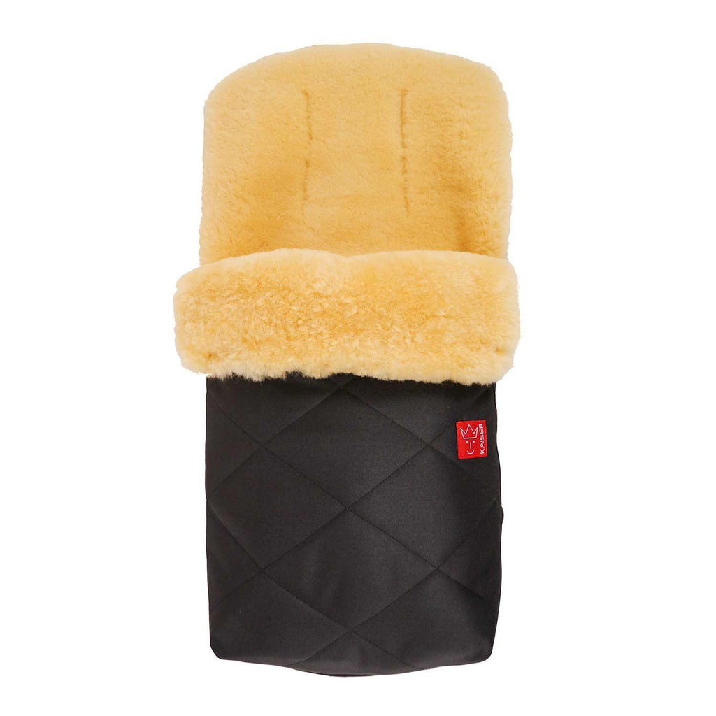 Universal Sheepskin Footmuff for Pram Black -  - BABY  from The Wool Company
