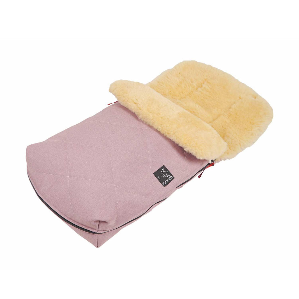 Universal Sheepskin Footmuff for Pram Dusky Pink -  - BABY  from The Wool Company