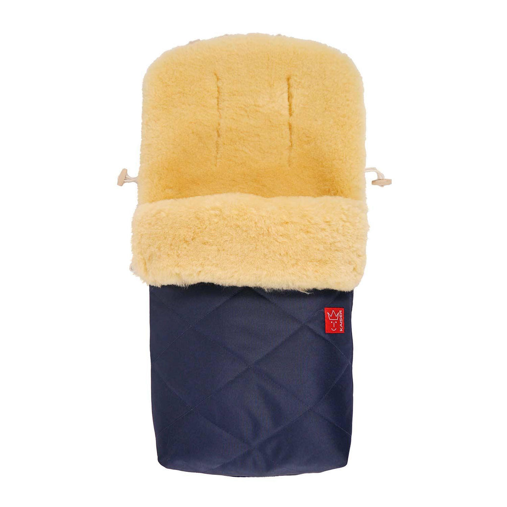 Universal Sheepskin Footmuff for Pram Navy -  - BABY  from The Wool Company