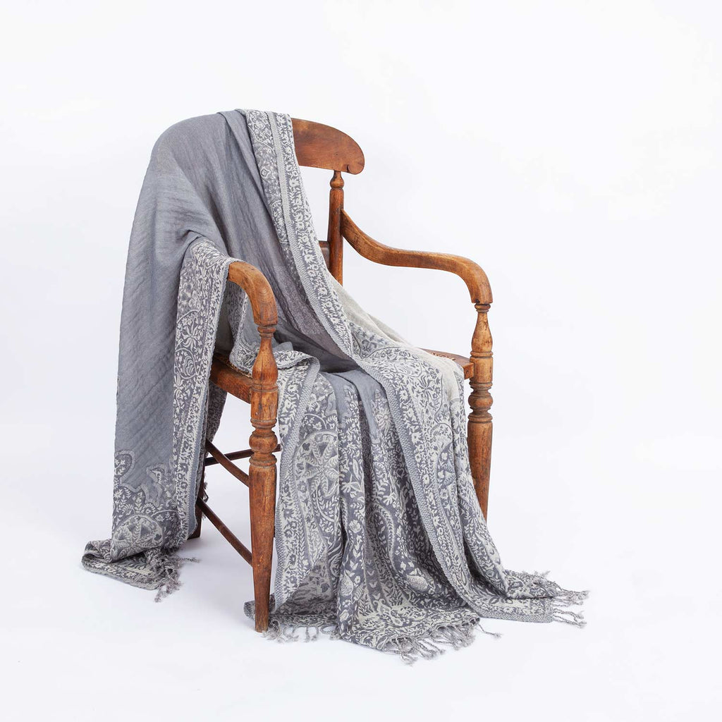 Varanasi Fine Wool Throw -  - LIVING  from The Wool Company
