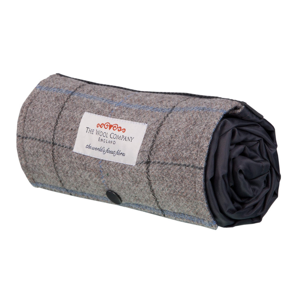 Walker Companion Tweed Picnic Rug Grey LIVING The Wool Company