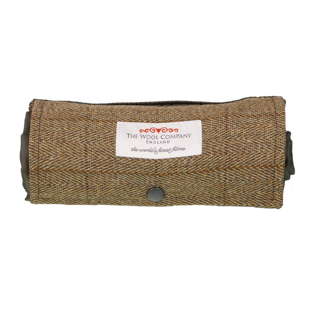 Walker Companion Small Tweed Picnic Rug Olive -  - LIVING  from The Wool Company