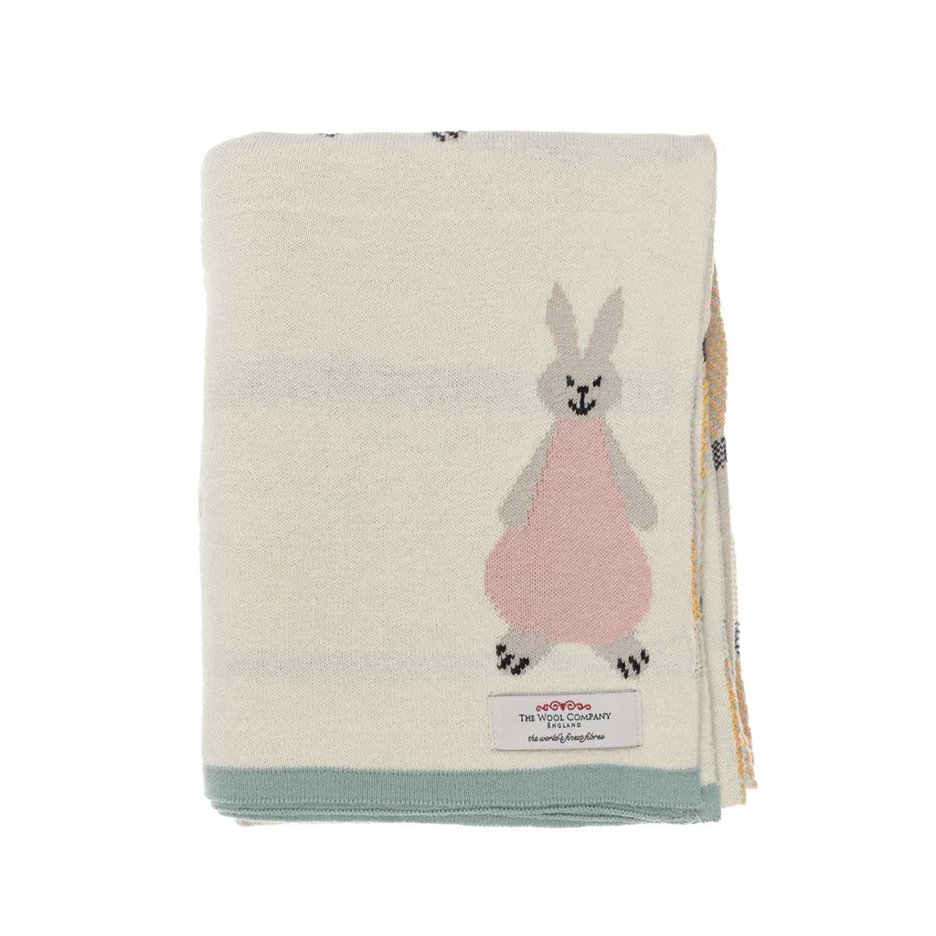 Willow Rabbit Baby Blanket Cream -  - BABY  from The Wool Company