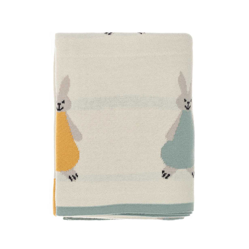 Willow Rabbit Baby Blanket Cream BABY The Wool Company