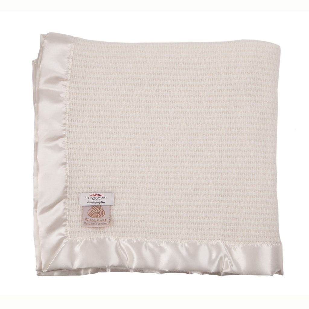Wool Cellular Baby Blankets 100 x 75 cm BABY The Wool Company