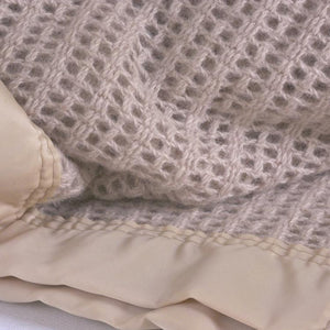 Wool Cellular Reduced Sizes - Double 230 x 230 cm / Champagne - LUXURY BEDDING  from The Wool Company