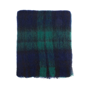 Buy Wool Company Classic Mohair Knee Rug Black Watch From The Wool Company Online