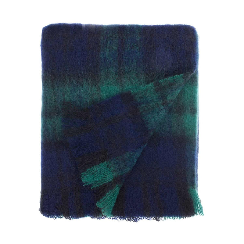 Wool Company Classic Mohair Knee Rug Black Watch LIVING The Wool Company