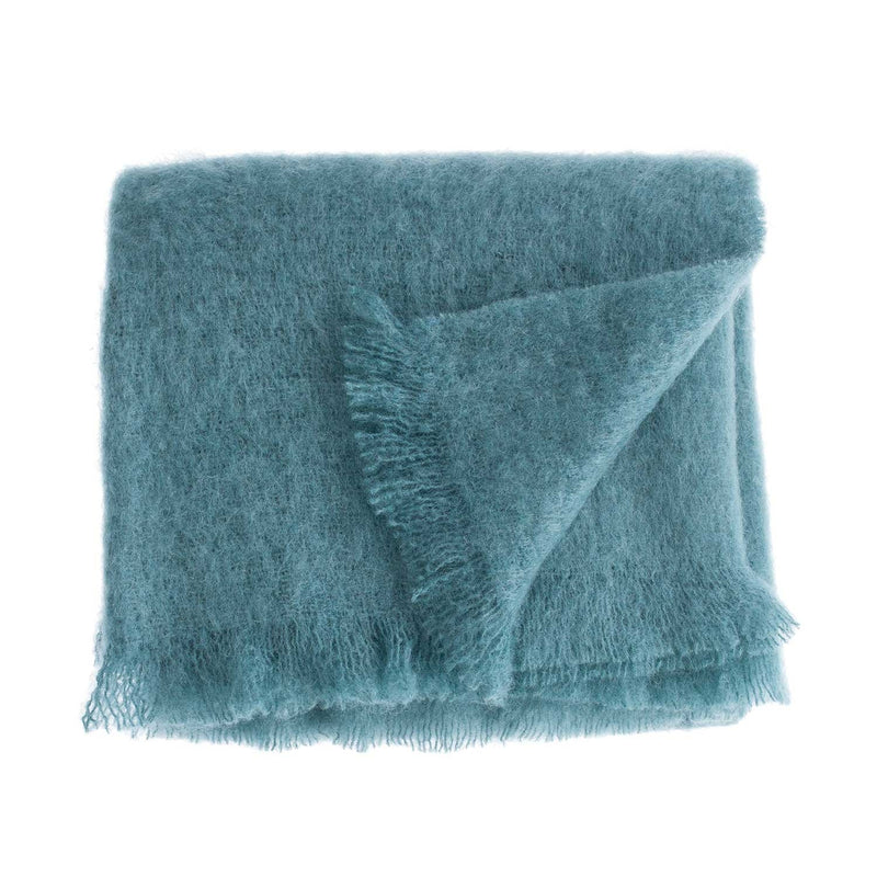 Buy Wool Company Classic Mohair Knee Rug Teal From The Wool Company Online