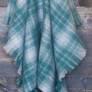 Wool Company Classic Mohair Knee Rug Teal Plaid -  - LIVING  from The Wool Company