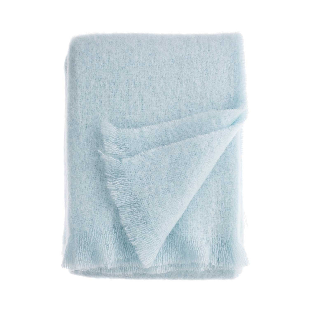 Wool Company Classic Mohair Throw Duck Egg -  - LIVING  from The Wool Company