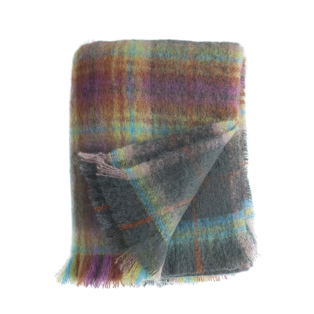 Buy Wool Company Classic Mohair Throw Fjord From The Wool Company Online