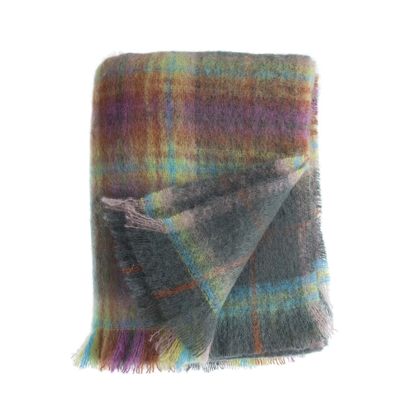 Wool Company Classic Mohair Throw Fjord -  - LIVING  from The Wool Company